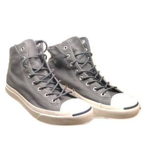 Converse Jack Purcell gray leather hi top